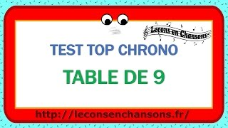 Test Top Chrono - Table de 9