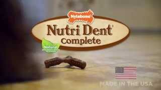 Nutri Dent Complete 3-Point Edible Dental Chews—Better Than Brushing!