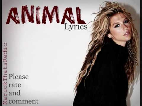 Kesha-Animal+Lyrics & Download - YouTube