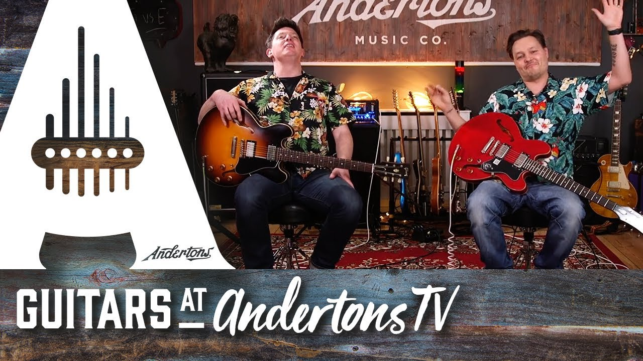 expensive gibson es 335 vs budget epiphone dot guitar paradiso youtube. Black Bedroom Furniture Sets. Home Design Ideas