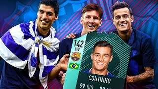 87 INFORM BARCATINHO! THE BARCELONA COUTINHO TRANSFER SQUAD! FIFA 18 Ultimate Team