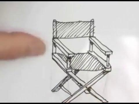 Disegno Ombrellone E Sdraio.Disegnare Una Sedia Youtube