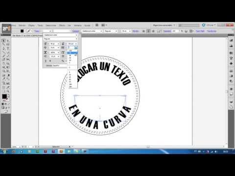 Illustrator - Escribir sobre curva | Texto en trazado