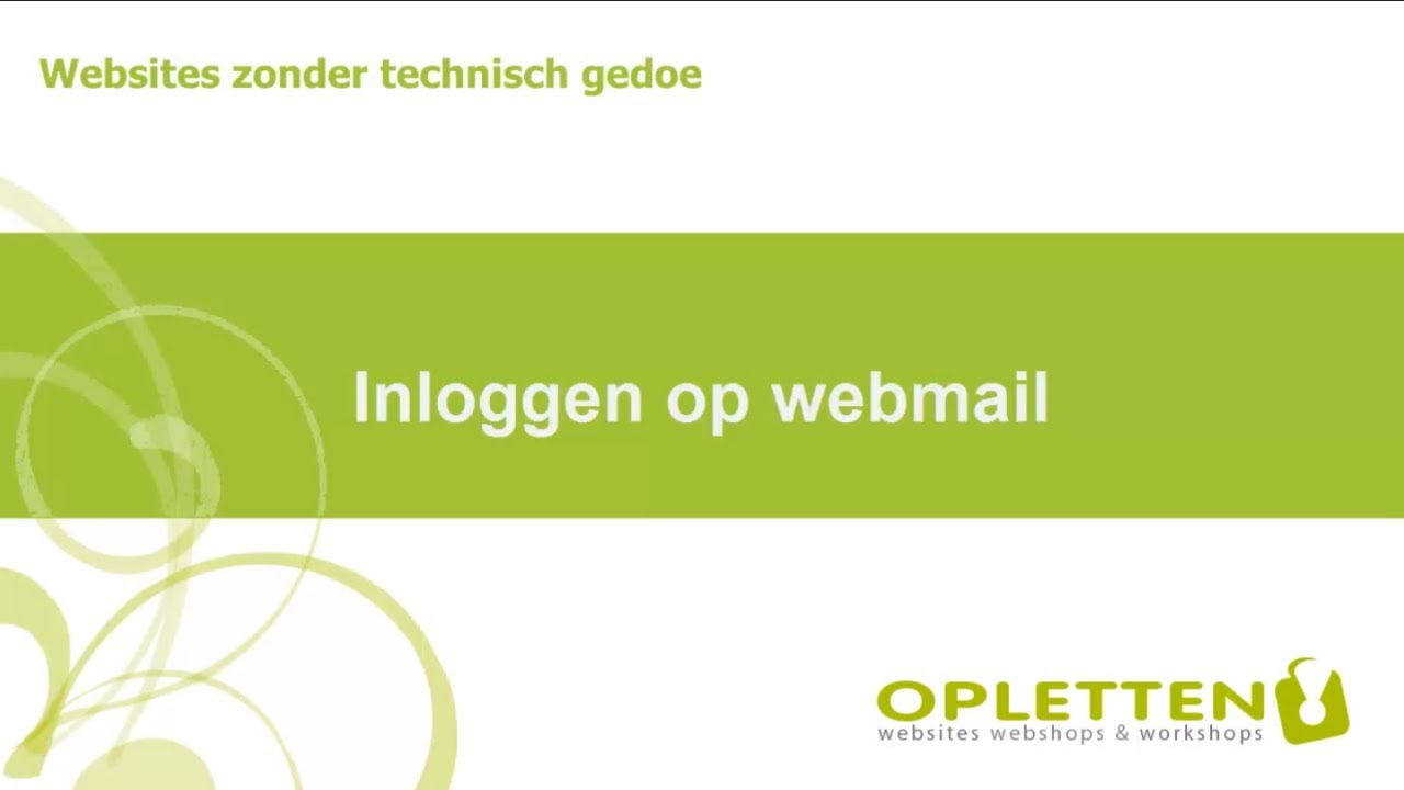 inloggen op webmail (roundcube) - youtube