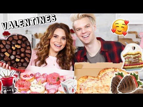 OUR LOVE STORY! - Valentines Day Mukbang w/ My Boyfriend!