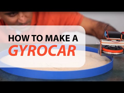 How to make a GyroCAR as a KIT - DIY - Gyroscope - dartofscience