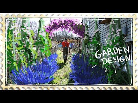 Garden Design - Using cheap local materials