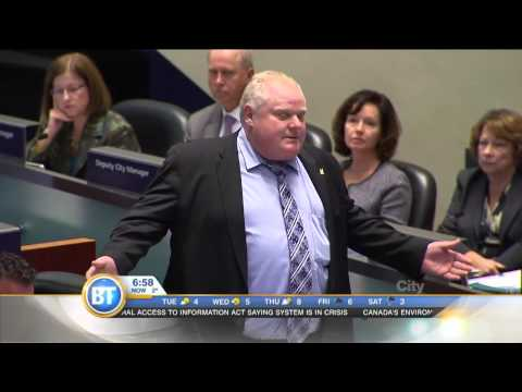 Toronto mayor Rob Ford says he's sorry, sorry, and sorry again!