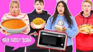 ONLY USING A MICROWAVE TO COOK FOR 24 HOURS CHALLENGE!