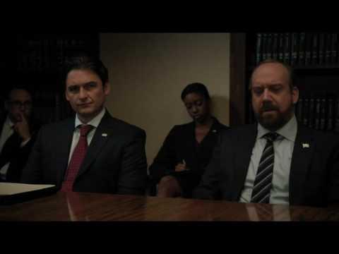 """отрывок из сериала """"Миллиарды""""  деловые переговоры"""