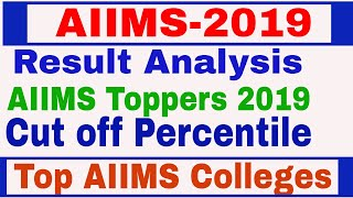 AIIMS Result analysis 2019 | AIIMS Toppers | Cut off Percentile: AIIMS 2019 | Top AIIMS  in India