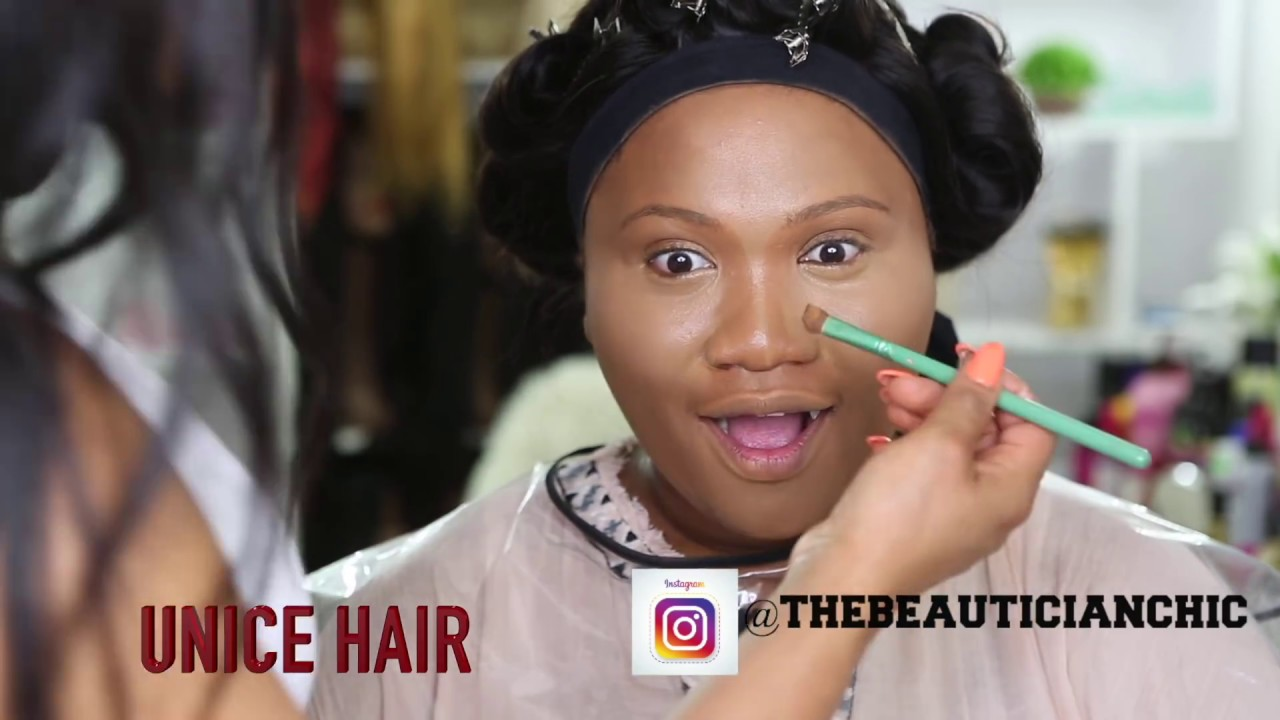 CLIENT HAIR AND MAKEUP TRANSFORMATION VLOG 22 |UNICE HAIR