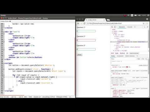 Создание тестов с вопросами и ответами на JavaScript
