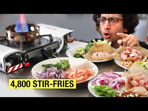 4,800 Stir-Fry Recipes In This Video ! (no typo)