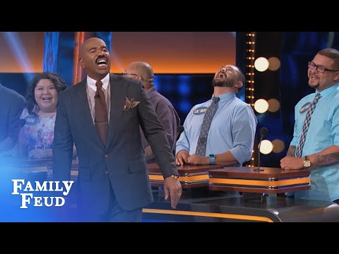They're AIRBAGS for your TEETH!!!  Celebrity Family Feud  OUTTAKE