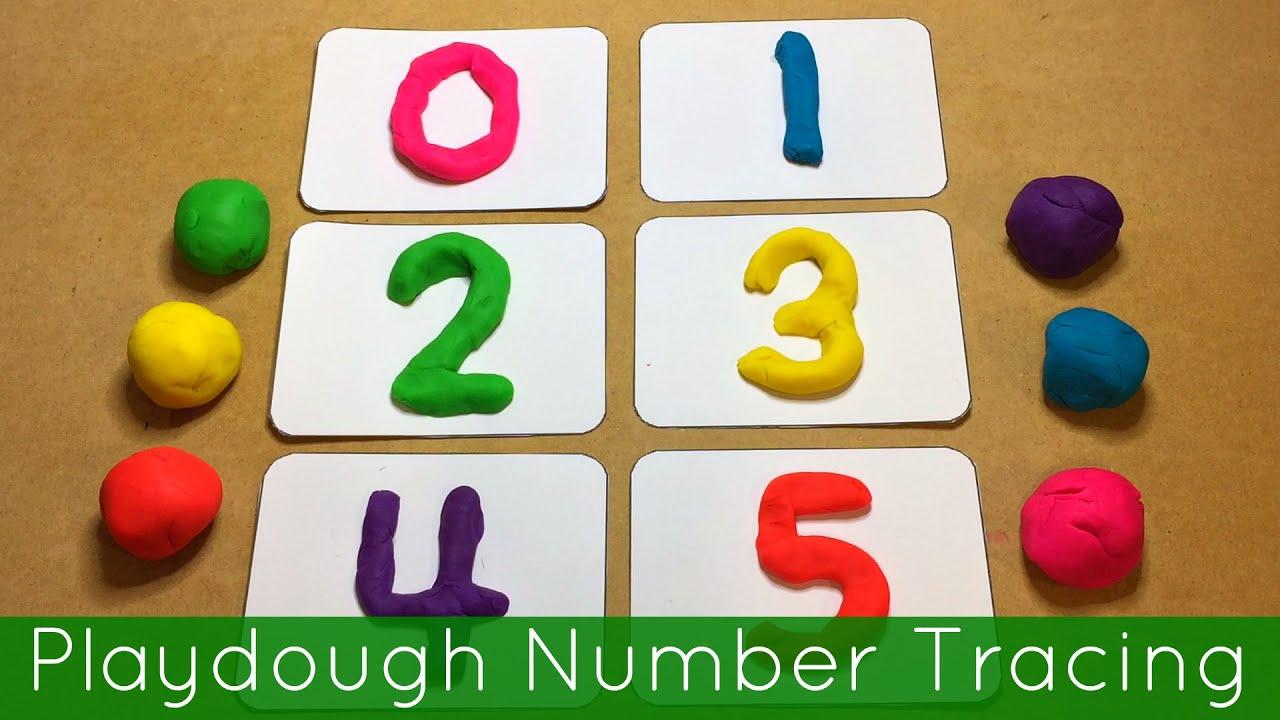 Playdough Number Tracing Preschool And Kindergarten Fine Motor Activity