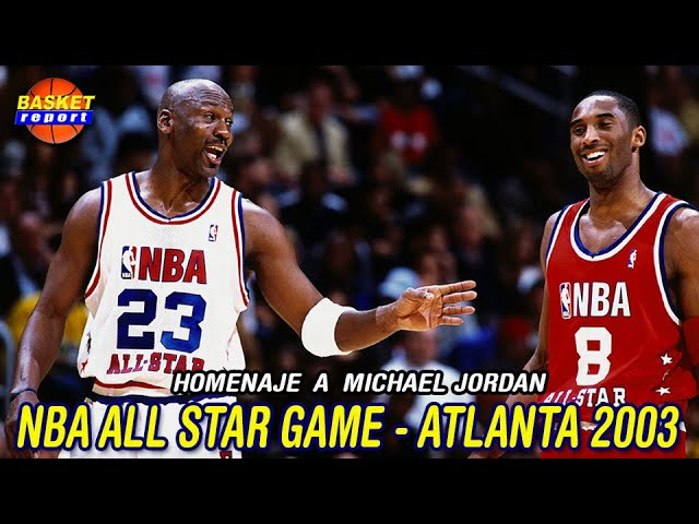Turista Patrocinar Aplicado  NBA All Star Game 2003 despedida de Michael Jordan - YouTube