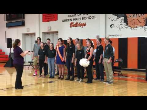 GHS Ensemble National Anthem Green Community Homecoming Rally 2016