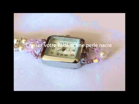comment faire une montre avec un bracelet en perles youtube. Black Bedroom Furniture Sets. Home Design Ideas