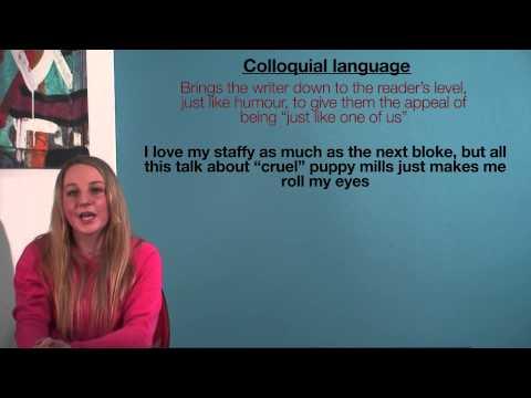 VCE English - Colloquial Language (Language Analysis)