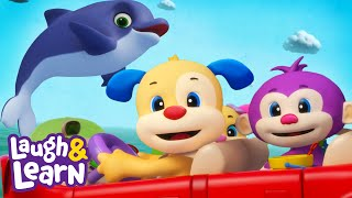 Driving to the Beach | Laugh & Learn™ | Cartoons and Kids Songs | Learn ABCs + 123s | Nursery Rhymes