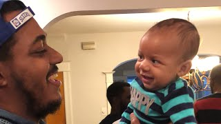 Daddy best funny moments with baby boy #daddybaby #activedads #blackfathers #bestdadever  #funny