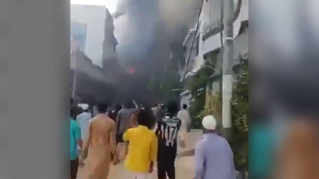 Pakistan Airplane crash live video