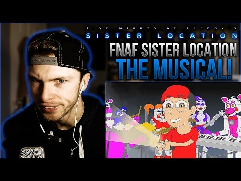 Vapor Reacts #90 | FNAF SISTER LOCATION SONG - The Musical Animation by LHUGUENY REACTION!!