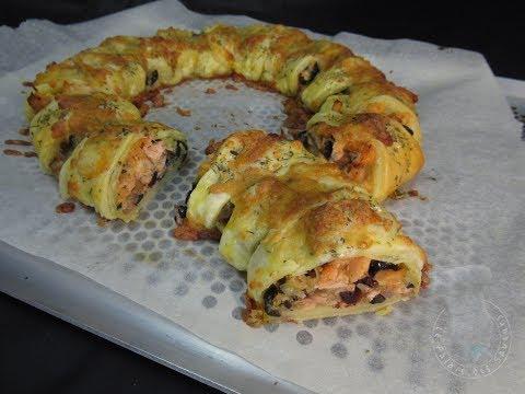 recette-de-couronne-feuilletée-au-saumon