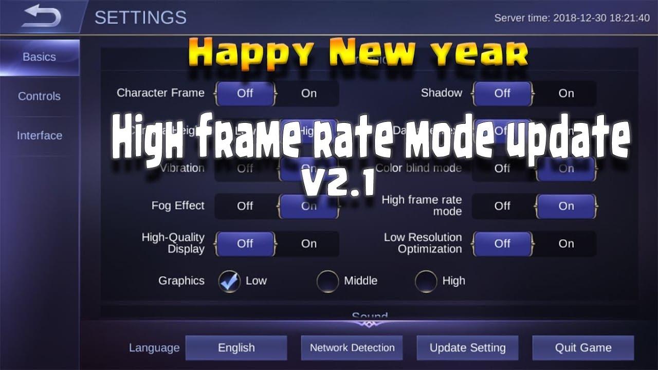 Mobile Legends High Frame Rate Mode 2019