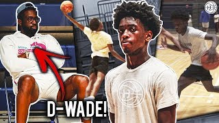 Dwyane Wade Watches Zaire NBA Workout w/His TRAINER! Zaire Wade Up Next!