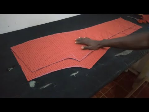 HOW TO CUT A TROUSER STEP BY STEP  (BACK AND FRONT)