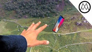 iPhone X Helicopter 1200ft Drop Test!! + Mous Case Review