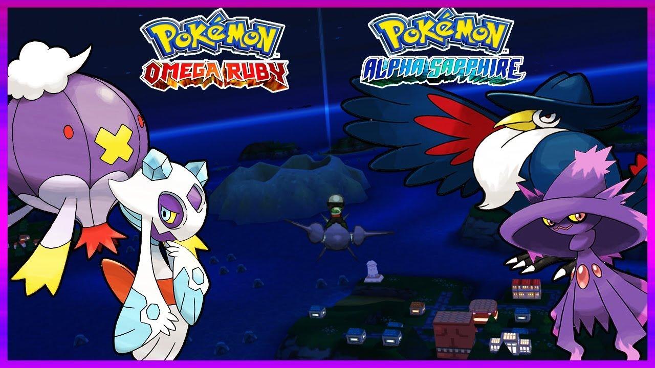 Pokemon Omegaruby Alphasapphire How To Get Froslass Drifblim Honchkrow Mismagius Youtube
