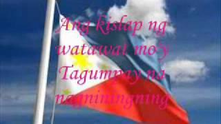 Lupang Hinirang with lyrics