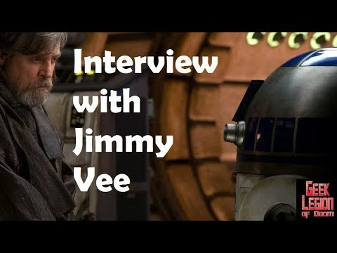 JIMMY VEE Interview August 2018 R2-D2 from Star Wars, Doctor Who among others