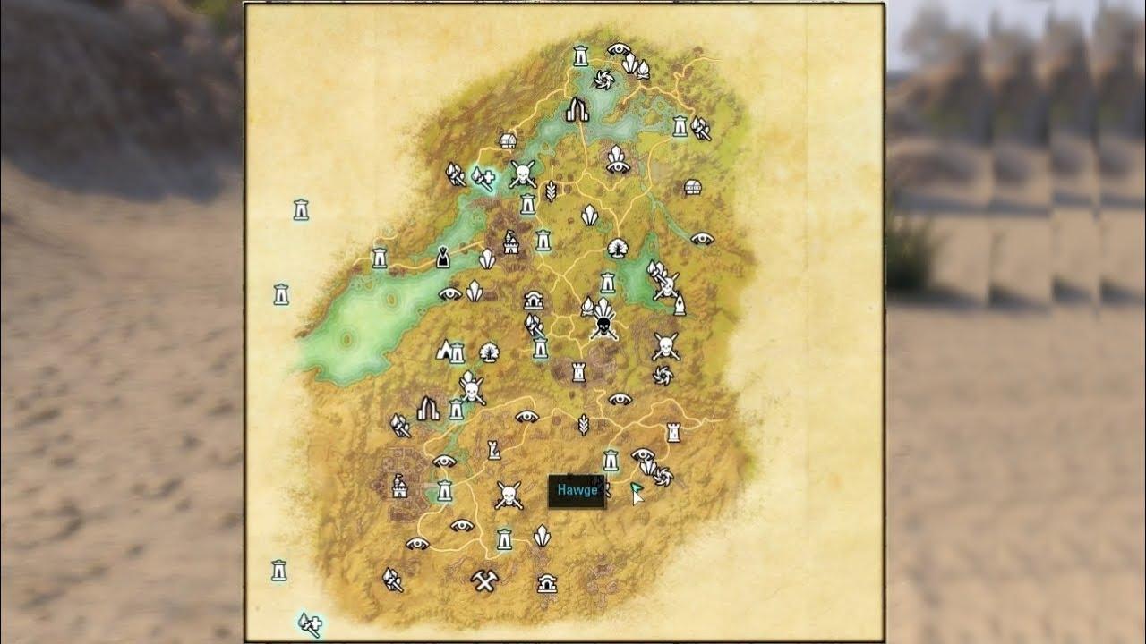 Elder Scrolls Online - CE Treasure Map Bangkorai - YouTube
