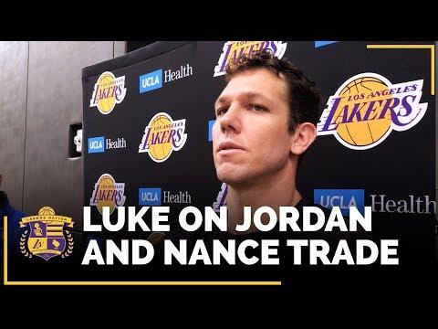 Lakers Coach Luke Walton When He First Hears Jordan Clarkson, Larry Nance Jr. Trade Is Official