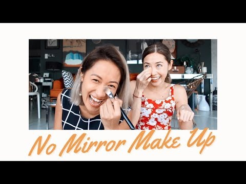 No Mirror Make Up Challenge with Laureen Uy | Kryz Uy