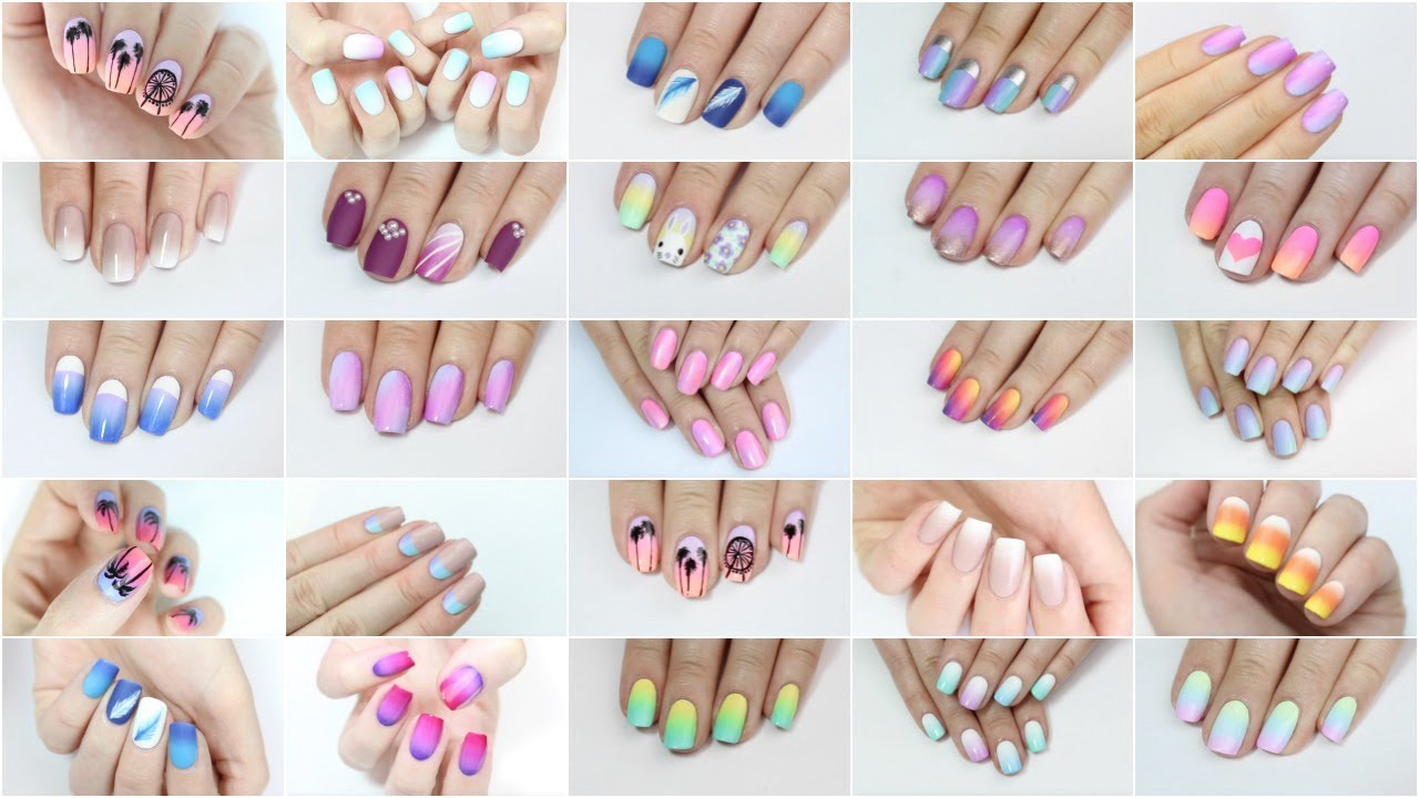 Nail Art Ideas nail art melbourne : Ombré & Gradient Nail Art Compilation! - YouTube