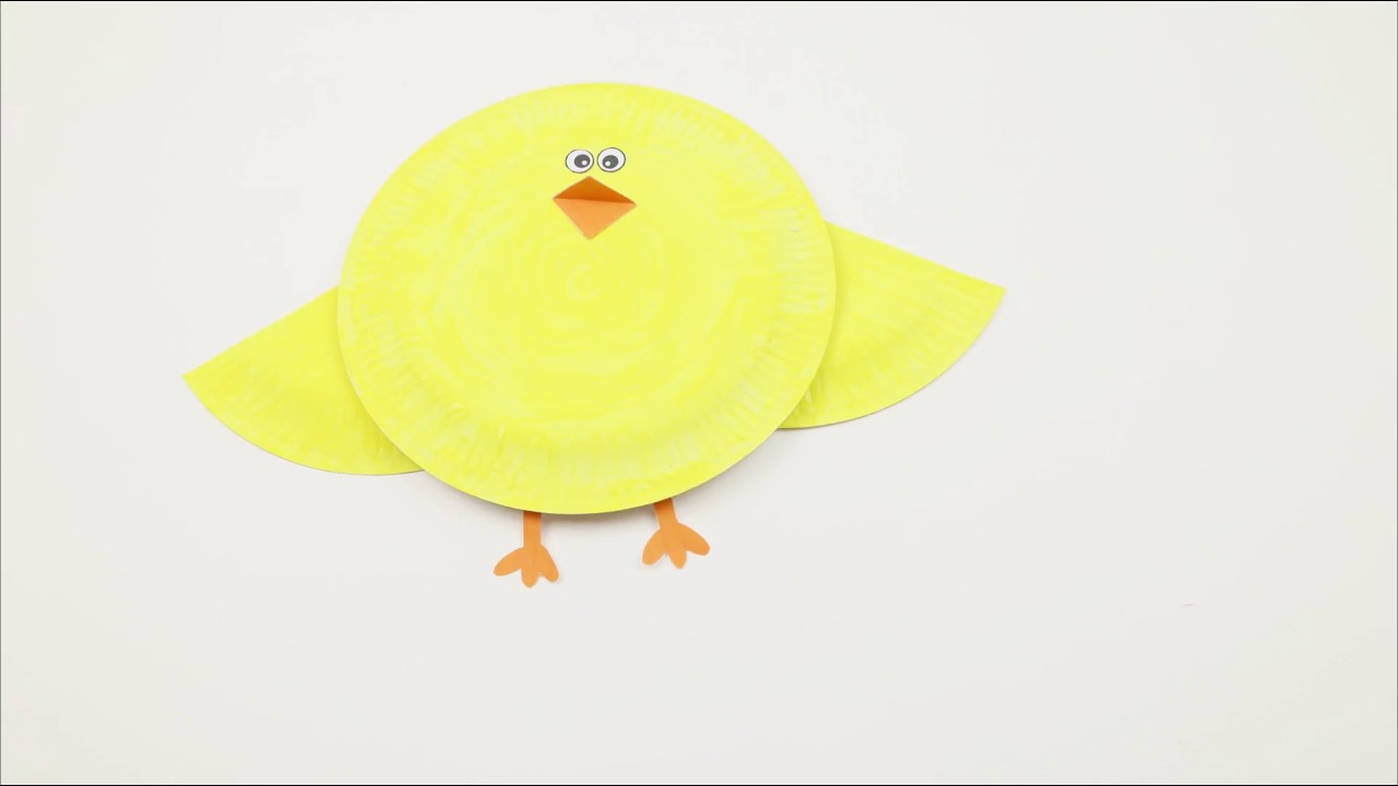 Paper Plate Chick Craft  sc 1 st  YouTube & Paper Plate Chick Craft - YouTube