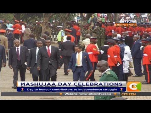 Chief Justice David Maraga Arrives for Mashujaa Day Celebrations