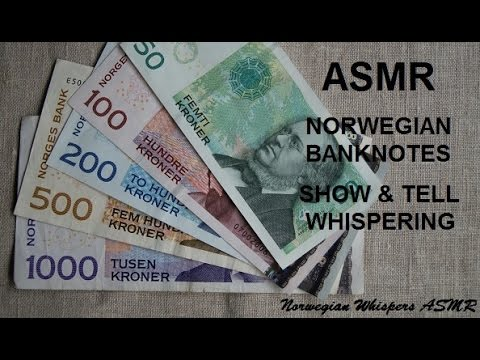 ASMR Norwegian Notes Whispered Show & Tell ~ English version