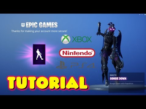 HOW TO GET THE BOOGIE DOWN DANCE EMOTE FOR FREE IN FORTNITE *TUTORIAL* - PC/XBOX/PS4