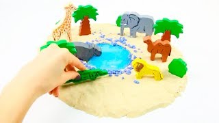 Play With Kinetic Sand And Learn Colors DIY For Kids Creative Video