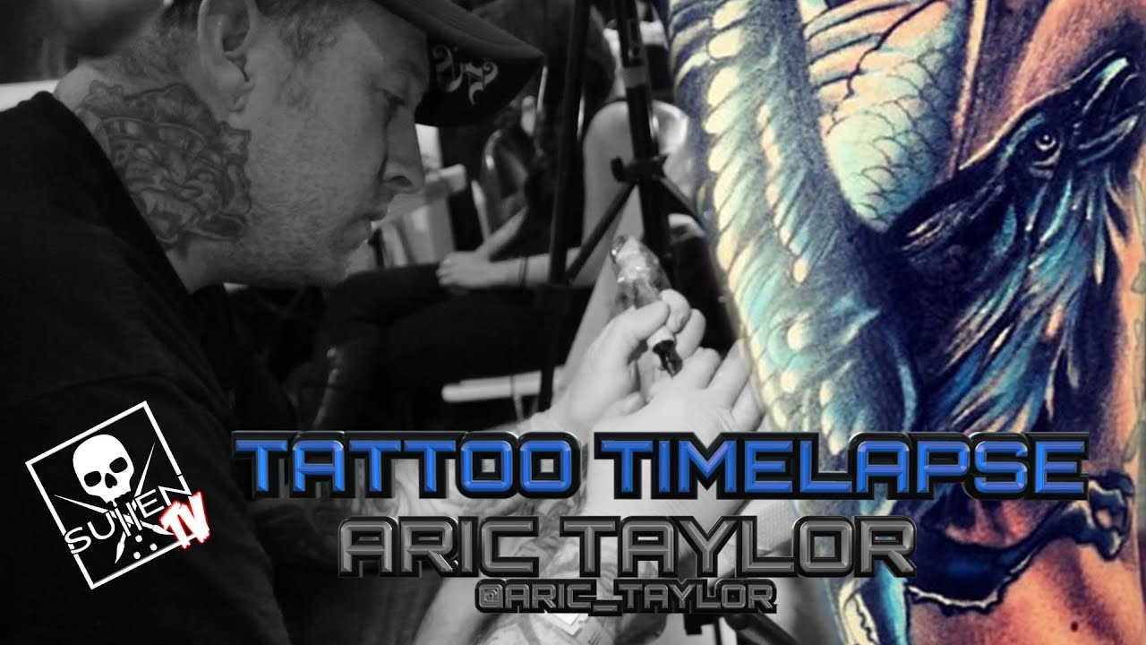 Tattoo Time Lapse Aric Taylor Tattoos Color Raven On Forearm