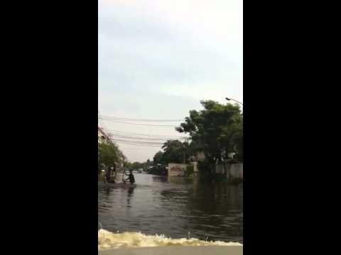 สถานการณ์น้ำท่วม ถนนร่วมมิตรพัฒนา