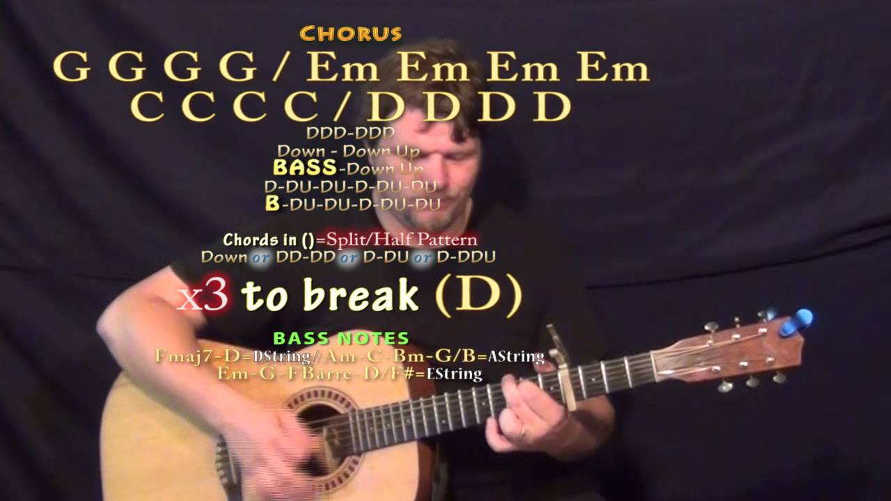 Private fears in public places front porch step guitar lesson chord chart capo 4th