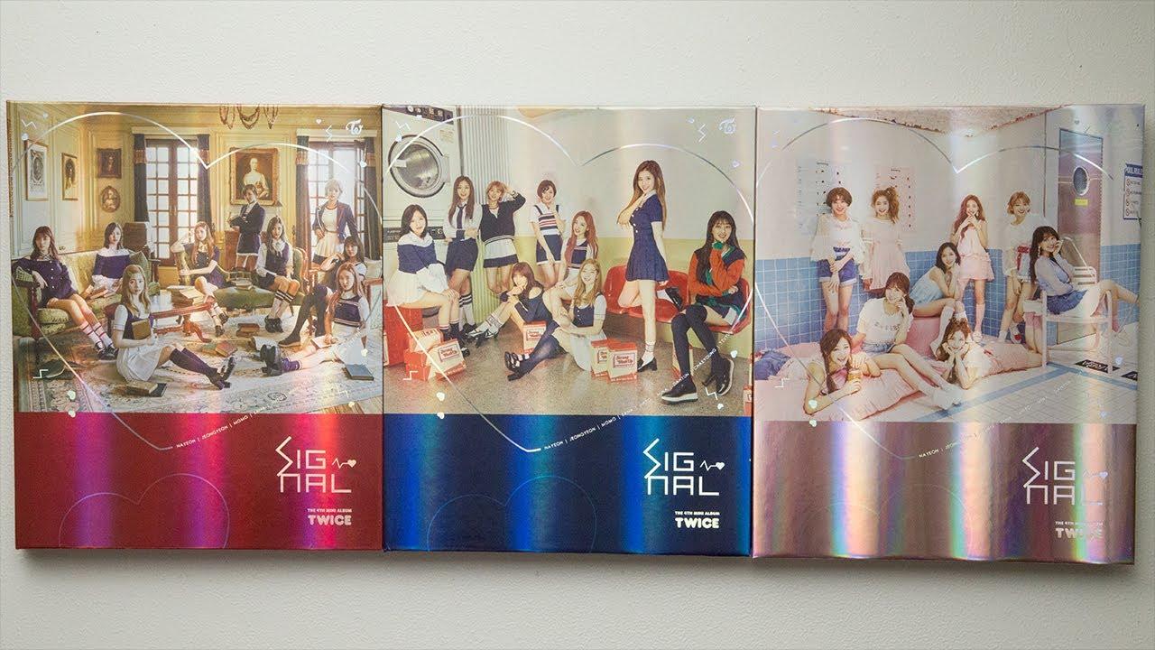 Unboxing | Twice Mini Album Vol  4 - Signal (Version A + B + C) + Photo  Card Set