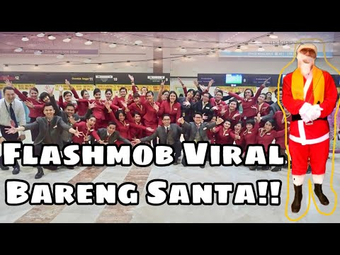 Cathay Pacific Airways 'Christmas Surprise Flashmob' Port CGK 19 Dec 2016